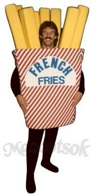 French Fries Mascot Costume