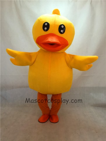 High Quality Duck Mascot Costume Yellow Ducky Adult Party Carnival Halloween Christmas Mascot Costume