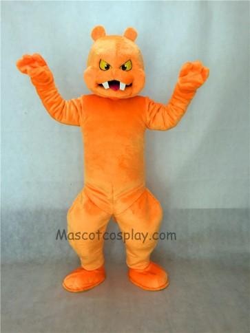 Orange Slimy Monster Mascot Costume