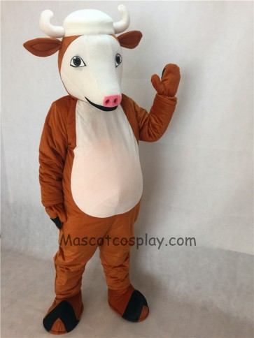 Henry Hereford Cattle Mascot Costume