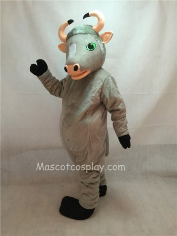 Adult Friendly Grey Buffalo Mascot Costume
