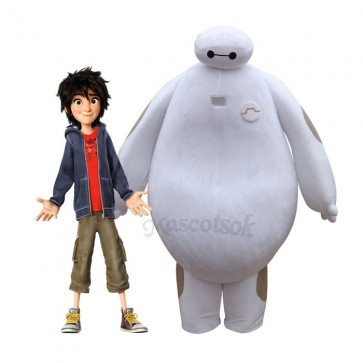 Big Hero 6 Baymax Supercute Unisex Mascot Costume Cartoon Movie Adult Size Fancy Dress