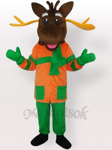 Christmas Merry Moose Mascot Adult Costume