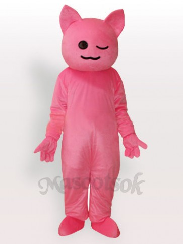 Pinky Cartoon Cat Adult Mascot Costume