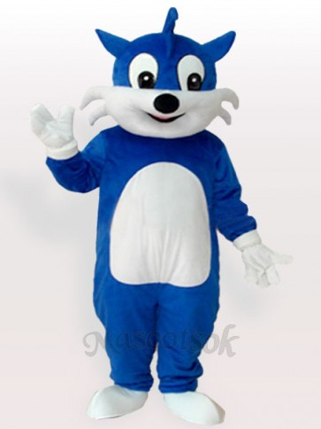 Blue Cat Adult Mascot Costume