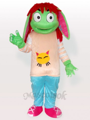 Handsome Dudu Pink Shirt and Blue Trousers Adult Mascot Costume