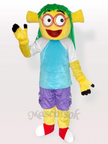Smiling Wen Dudu Blue Dress Adult Mascot Costume