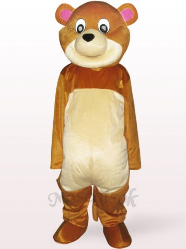 Round Mouth Bear Adult Mascot Costume