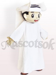 Arab Man Plush Adult Mascot Costume