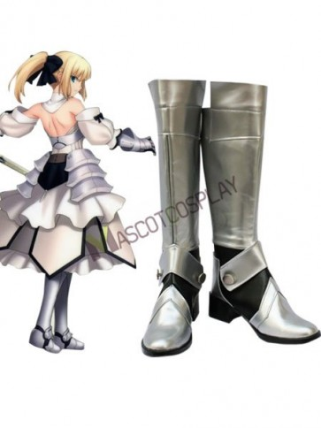 Fate Stay Night Saber Imitated Leather Cosplay Shoes