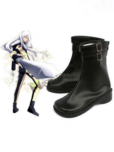 "Black 2"" Heel Reborn Superbia Squalo Faux Leather Cosplay Shoes"
