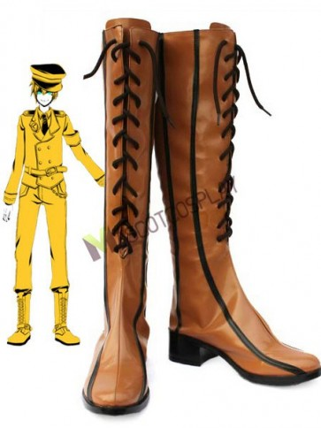 Brownish Yellow 1 1/2 Vocaloid Cosplay Boots
