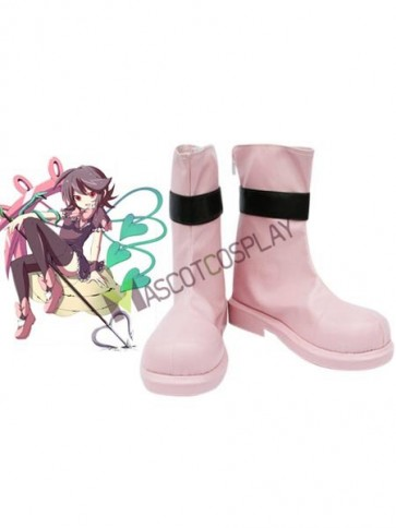 """Pink 1 1/2"""" Heel TouhouProject Houjuu Nue Faux Leather Cosplay Shoes"""