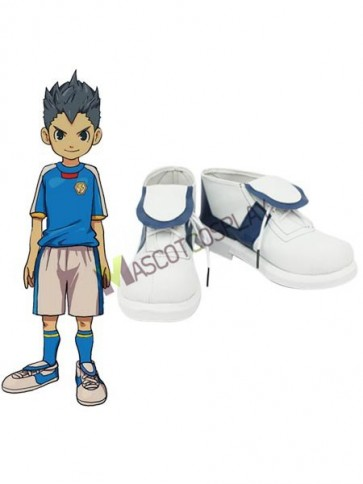 "White 1 1/5"" Heel PU Inazuma Eleven Shoes"