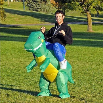 inflatable dinosaur costume adult ride dinosaur party costume for adult