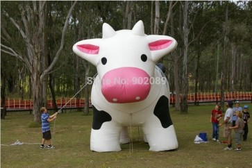 4m inflatable COW model , hot inflatable COW ground balloon, high quality COW for advertising