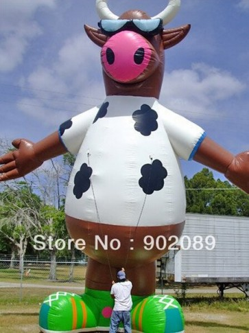 Customized Inflatable mascot Cow