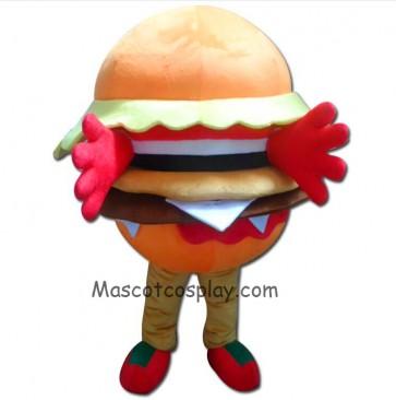 High Quality Adult Food Hamburger Mascot Costume