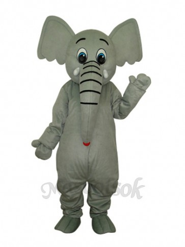 Little Grey Elephant Mascot Adult Costume