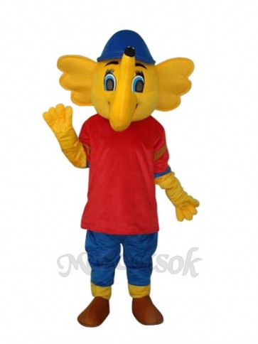 Yellow Big Elephant Mascot Adult Costume