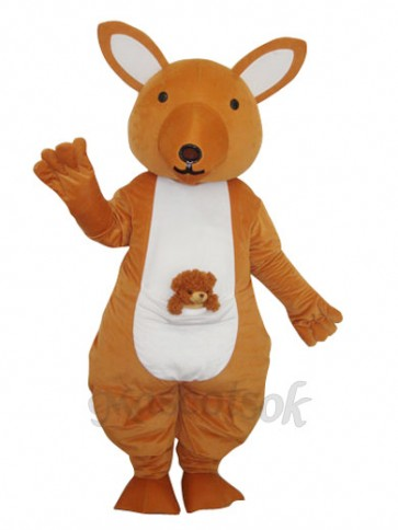 Yellow Kangaroo Mascot Adult Costume