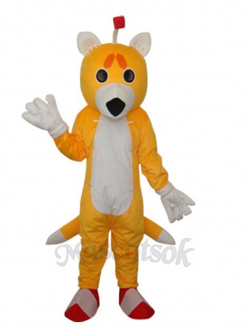Double-Tail Fox Mascot Adult Costume