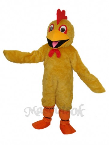 Plush Yellow Chicken Mascot Adult Costume