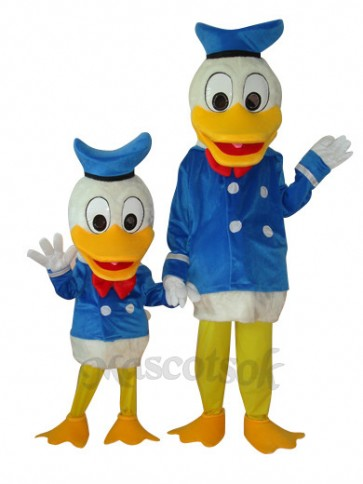 Child and Adult Donald Duck Plush Mascot Costume