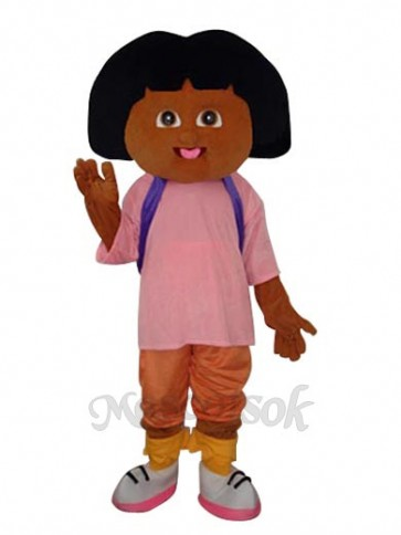 2nd Version Black Hair Dora Plush Adult Mascot Costume