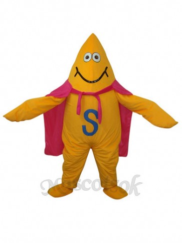 Yellow Starfish Short Plush Adult Mascot Funny Costume