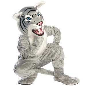 Adult Gray Wildcat Mascot Costume