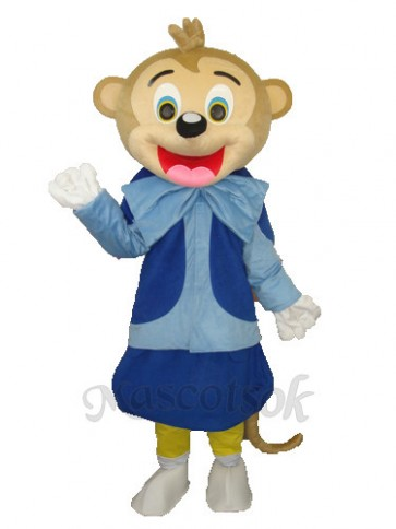 Smart Monkey Adult Mascot Costume