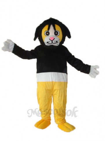 Tony Monkey in Black Sweater Adult Mascot Costume