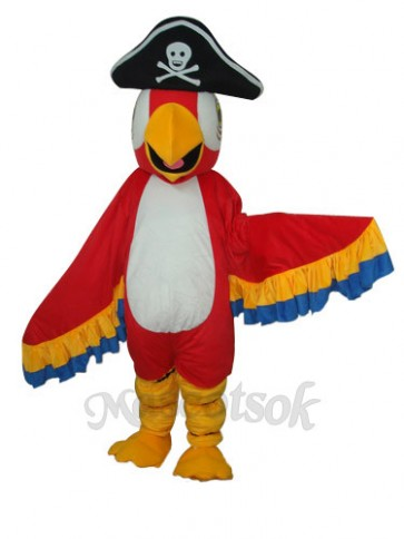 Red Pirate Parrot Mascot Adult Costume