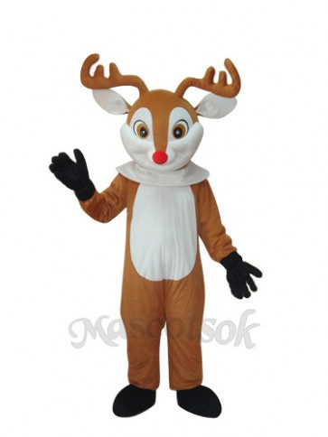 Golden Sika Yellow Reindeer Adult Mascot Costume