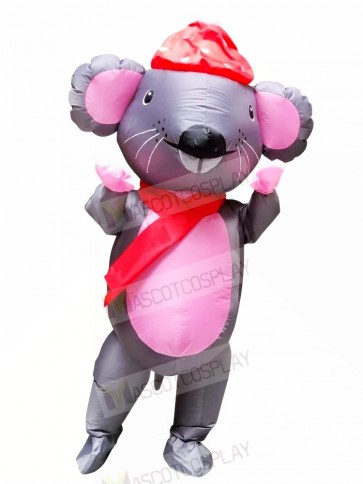 Mr. Mouse with Red Hat Inflatable Mascot Costumes Cartoon
