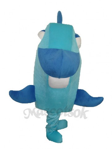Blue Fish Mascot Adult Costume
