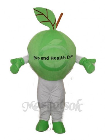 Green Apple Mascot Adult Costume