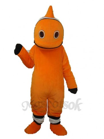 Orange Little Clownfish Mascot Adult Costume