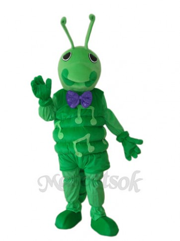 Green Worm Mascot Adult Costume