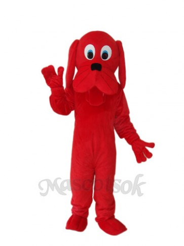 Red Dog Mascot Adult Costume