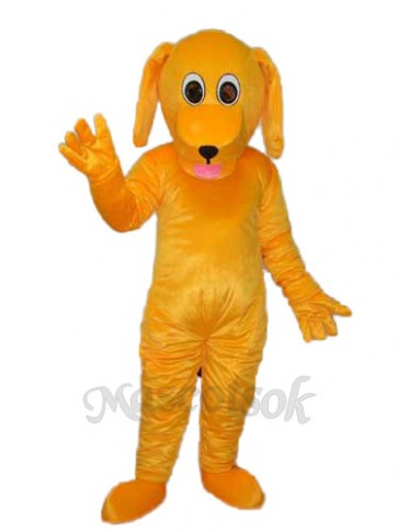 Yellow Dog Mascot Adult Costume