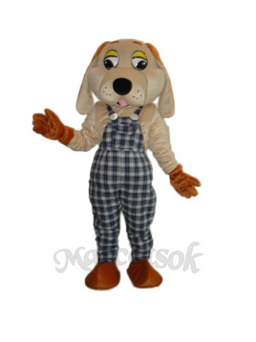 2nd Version Lucky Dog Mascot Adult Costume