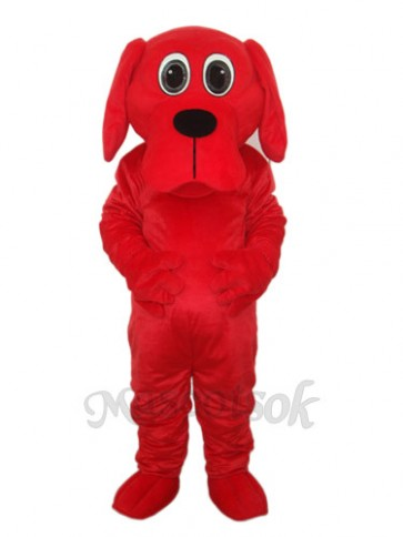 Black Nose Rooney Red Dog Mascot Adult Costume