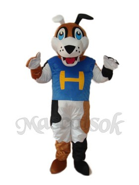 Mitt Dog Mascot Adult Costume