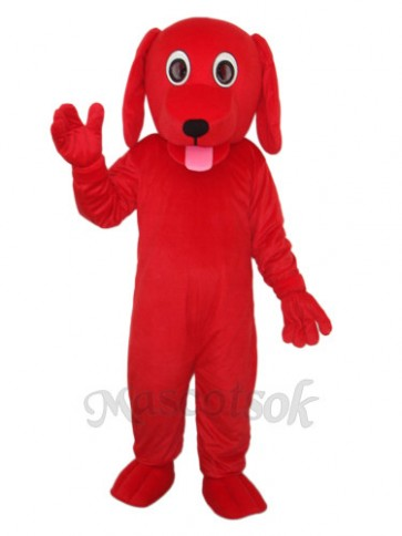 Little Red Dog Mascot Adult Costume