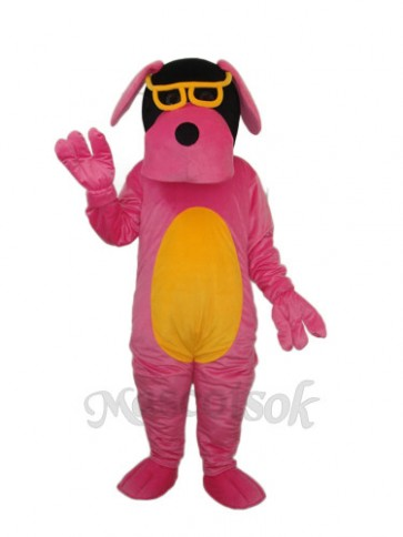 Glasses Dog Mascot Adult Costume