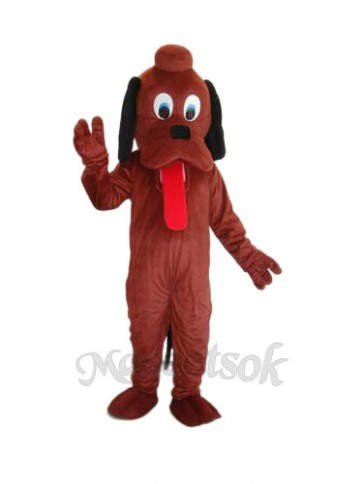 Brown Pluto Dog Mascot Adult Costume