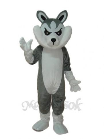 Big Grey Wolf Mascot Adult Costume