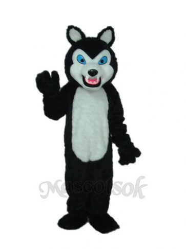 Sharp Teeth Wolf Mascot Costume
